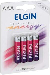 4 Pilhas recarregáveis ELGIN | R$24