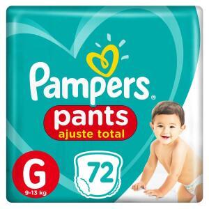 6 pacotes de Fralda Pampers Pants Ajuste Total Giga Tamanho G Com 72 Unidades (TOTAL 432 fraldas)