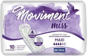 [Prime] Absorvente para Incontinência Moviment Miss Maxi, 10 Unidades | R$ 14