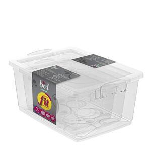 Conjunto de 3 Organizadores Plástico com travas: 600ml, 1.5L e 4L R$30