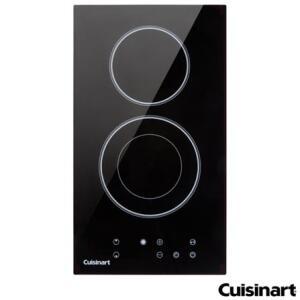 Cooktop Domino Eletrico Cuisinart Vitroceramico com 02 Bocas, Acendimento Automatico, Painel Touch | R$ 1790