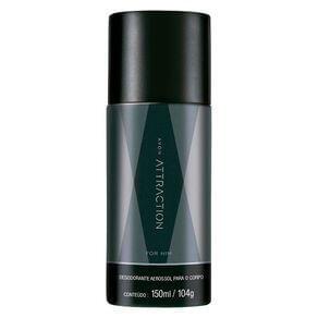 Desodorante Aerossol Attraction for Him - 150 ml | R$12