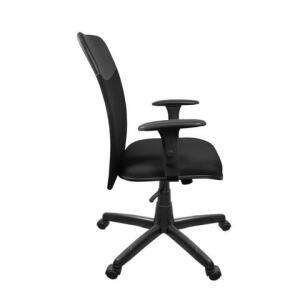 Cadeira Tela Diretor Com Braço Regulável Preta | R$393