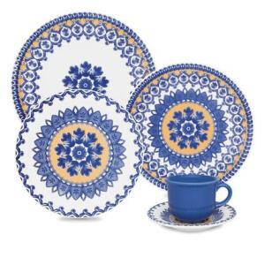 Aparelho de Jantar Oxford Floreal La Carreta - 30 peças | R$270
