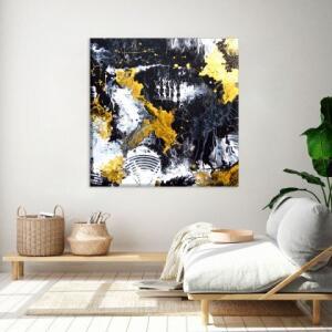 Conjunto 2 Telas Decorativas Quadrada Abstrato Pequena | R$75