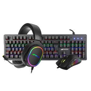 Combo Gamer Teclado Mecânico Player 1 + Mouse Big Boss + Headset Velka | R$439