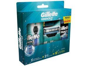 Kit de Barbear Gillette-Mach3 Aqua-Grip |