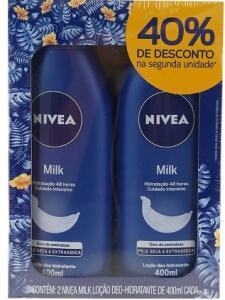 Kit Hidratante Nivea Milk - 2 unidades - 400ml cada | R$22