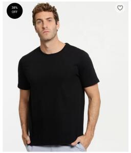 Camiseta Masculina Básica Manga Curta MR   R$13