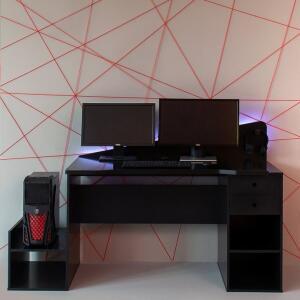 Mesa Gamer com LED Gothan 2 GV Preta | R$492