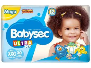 Fralda Babysec Ultrasec Galinha Pintadinha XXG - 30 unidades | R$20