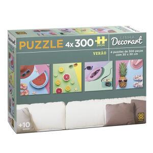 Puzzle/Quebra-cabeça 4 x 300 peças Decorart Verão - DE R$ 69,90 POR R$ 39,90