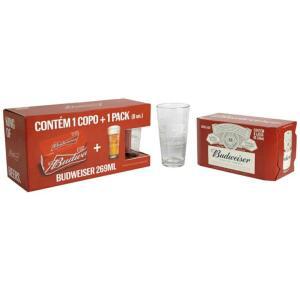 [MAGALUPAY=R$13,90] Copo + Cerveja Budweiser - 269ml 8UN