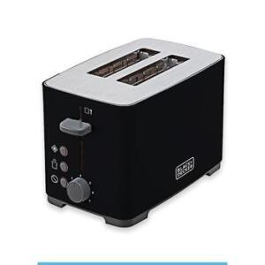 Tostador Black Decker - TO800 com acabamento Inox | R$113