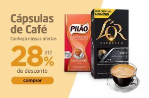 28% OFF em cápsulas Pilão e Lor para Nespresso