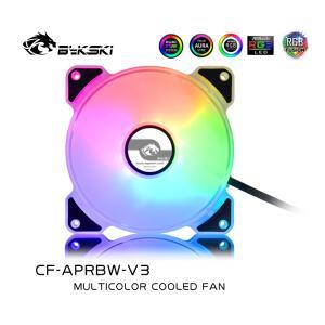 KIT 6 Fans Bykski 120mm CFM 64.8, RPM 1500 A-RGB R$294