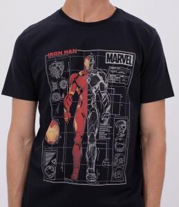 Camisa masculina - desenho técnico armadura Iron Man | R$20