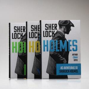 Kit Premium 3 Livros Sherlock Holmes - Arthur Conan Doyle - Capa Dura | R$45