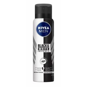 [3 Unidades] Desodorante Antitranspirante Aerosol Nívea Invisible for Black & White 150m   R$ 26