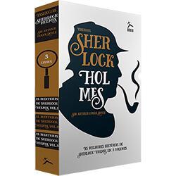 Livro - Box Sherlock Holmes: As Aventuras de Sherlock Holmes (3 Volumes)   R$ 25