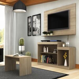 Rack E Painel Para TV 55 Pol Trevalla Atenas Com Mesa De Centro | R$ 188