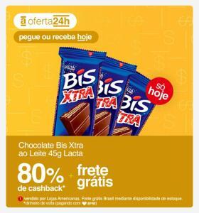 [80% AME] Chocolate Bis Xtra Ao Leite 45g Lacta | R$3