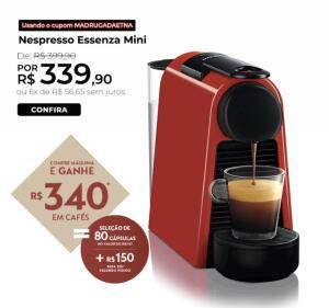 Cafeteira Essenza Mini D30 Nespresso | R$ 369