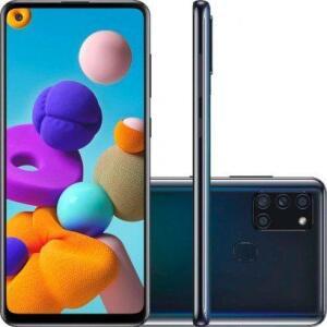 Smartphone Samsung Galaxy A21s Preto 64GB | R$1169