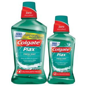 Kit Enxaguante Bucal Colgate Plax Fresh Mint 500ml + 250ml