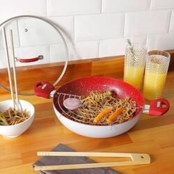 Panela Wok com Tampa Power Taste 28cm - La Cuisine | R$