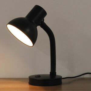 Luminária de Mesa Preta Metal Buro Inspire | R$64
