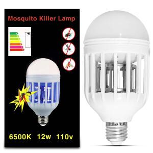Lâmpada Led Mata Mosquito Insetos Pernilongo Moscas 12W | R$ 13