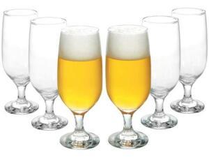 Conjunto de Taças de Vidro para Cerveja 6 Peças - 300ml Nadir Floripa | R$40