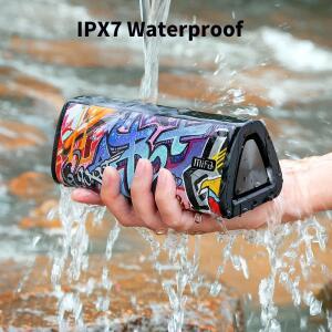 Som mifa estéreo portátil 20w ipx7 impermeável sem fio bluetooth 360 alto-falante de mifa a10 + bluetooth 5.0 desconto de $.29 Reais