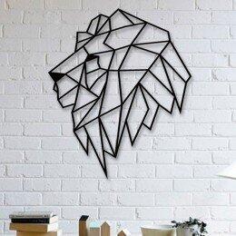 Escultura de Parede a Laser Leão Único | R$127