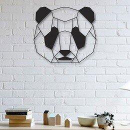 Escultura de Parede a Laser Face Panda Único | R$110