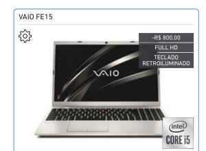 Vaio FE 15 ssd 256gb 8gb full hd i5 | R$3959