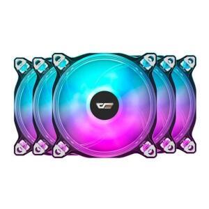 Kit Ventoinhas Aigo DarkFlash CF8 Pro 5in1 ARGB 5x120mm   R$249