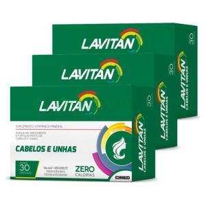 Lavitan Kit 3x Cabelos Unhas 30 Caps | R$37