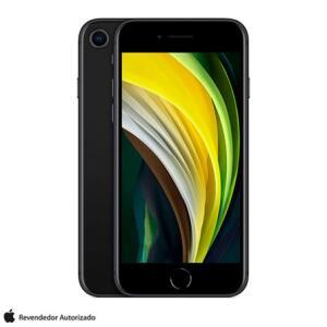 """iPhone SE Preto, com Tela de 4,7"""", 4G, 128 GB e Câmera de 12 MP R$3316"""
