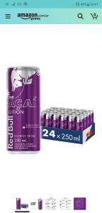 Energético Açaí Red Bull Energy Drink Pack com 24 Latas de 250ml R$103