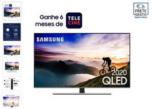"""Smart TV 55"""" QLED 4K Q70T, Pontos Quânticos, HDR, Design sem Limites, Alexa built in, Modo Ambiente 3.0 R$3049"""