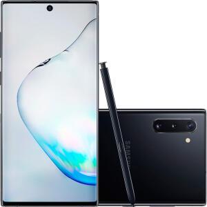 Samsung Galaxy Note 10 256gb preto ou prata: em 1x no cartão R$2.969