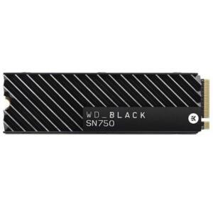 SSD WD Black SN750 Heatsink, 1TB, M.2 NVMe, Leitura 3470MB/s, Gravação 3000MB/s - R$1140
