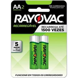 Pilha Recarregável Econômica AA - Rayovac | R$ 15