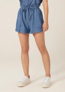 Shorts Jeans Clochard Com Bolso - Azul Claro ou Escuro | Dzarm - R$54