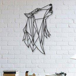 Escultura de Parede a Laser Uivo do Lobo Único | R$127