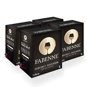 Fabenne Kit 4 Unidades Vinho Tinto Cabernet Sauvignon - Bag-in-Box 3L cada   R$255