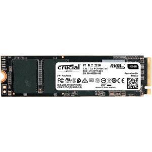 SSD Crucial P1, 500GB, M.2 NVMe, Leitura 1900MB/s, Gravação 950MB/s - CT500P1SSD8 R$430