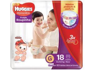 2 pacotes de fraldas Huggies Supreme Care G - 120 unidades R$60